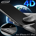 LEWEI 0.2mm Ultra-thin 4D ( Upgrade 3D )Curved Full Cover Tempered Glass Screen Protector Film For iPhone 7 6 6S Plus 4.7 5.5