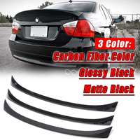 Matte/Glossy Blcak Carbon Fibre Primer ABS CSL OE Type Trunk Lip Spoiler Wing For BMW 2005 11 E90 3 series Sedan