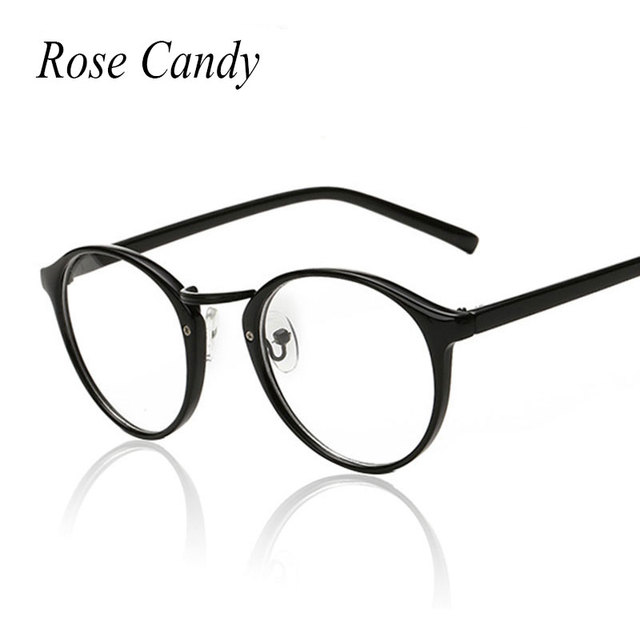 56cf2cbea987a Rosa Doce Do Vintage Oval Óculos de Armação Pequeno Tamanho Das Mulheres  Dos Homens Senhora Óculos