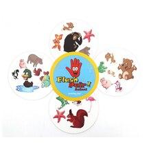 Флэш пара животные настольная игра spot спорт и алфавит для детей семейная забава двойной найти его английская версия карточная игра