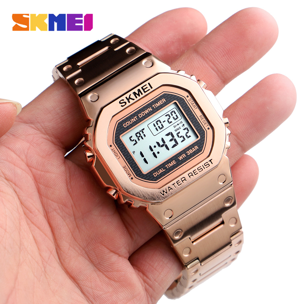 <font><b>SKMEI</b></font> Top Brand Men's Watch Waterproof Chronograph Countdown Digital Watch For Men Fashion Outdoor Sport Wristwatch Alarm Clock image