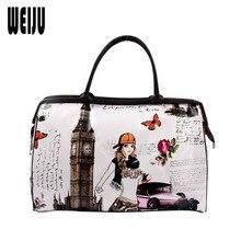 Print Reisetasche Frauen Handtasche 2016 Neue PU Damen Gepäck Wasserdicht Frauen Reisetaschen Große Kapazität Bag Für Weibliche