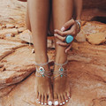 Nuevo Boho collar Vintage Bohemios tobillera para mujer Sandalias descalzas playa pie joyería tobillo verano playa tornozeleira