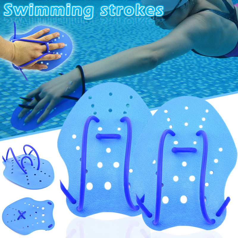 2pcs Swimming Paddles Soft Hand Webbed Gloves Swimming Accessories FG66