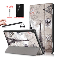 Slim Magnetic Case For Lenovo Tab 4 10 TB-X304F TB-X304N PU Leather Stand Tablet Smart Cover For Lenovo tab 4 10 Case + Gift