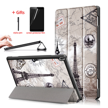 Slim Magnetic Case For Lenovo Tab 4 10 TB-X304F TB-X304N PU Leather Stand Tablet Smart Cover For Lenovo tab 4 10 Case + Gift цена 2017