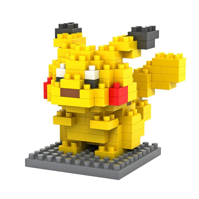 LOZ  Blocks educational toys Pikachu Charmander Bulbasaur Squirtle Mewtwo anime Toys for children Christmas birthday gifts kids