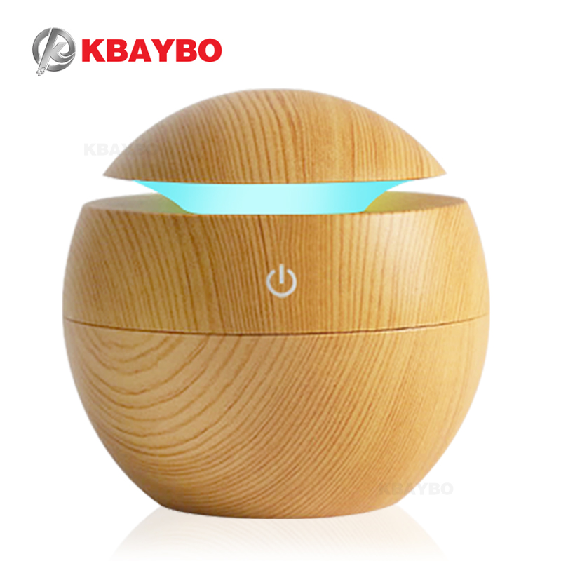 USB Aroma Essential Oil Diffuser Ultrasonic Cool Mist Humidifier Air Purifier 7 Color Change LED Night light for Office Home eworld essential oil diffuser 130ml led ultrasonic cool mist aroma air humidifier usb air purifier for office home bedroom
