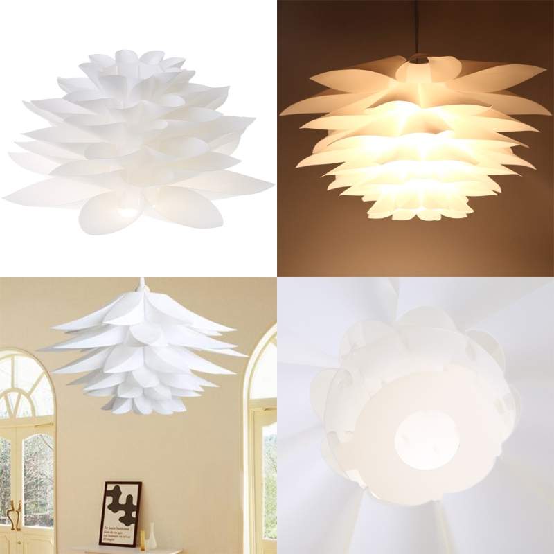 Smart New Style Fashion Diy Lily Lotus Iq Puzzle Pendant Lampshade Cafe Restaurant Ceiling Hanging Lamp Various Styles Lights & Lighting Lamp Covers & Shades