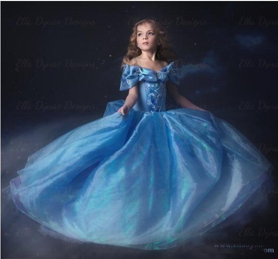 Movie Sandy Cinderella Princess Fairytale Party Dress Cosplay Costume Dress