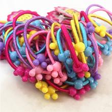 50 sztuk partia dziewczyna mini włosy zespół moda cukierki kolor gumki pierścień elastyczna gumka do wiązania kucyka Holder dla dziecięce akcesoria do włosów tanie tanio Canvas Organic Cotton Rubber Dziewczyny Nakrycia głowy Stałe w556