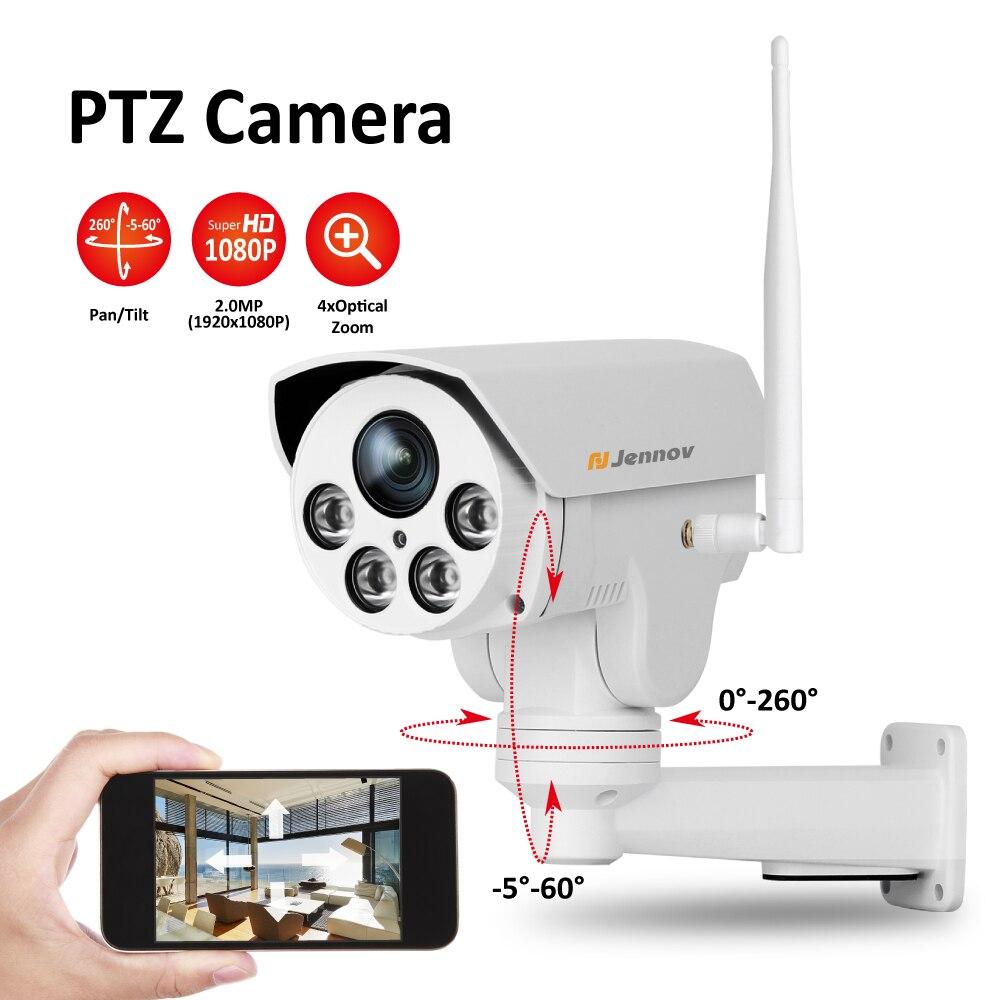 все цены на 1080P 2MP PTZ IP Camera Wireless Wifi 4X Zoom CCTV IR Night Vision Outdoor Security ipCam Audio Video Surveillance Nanny Camara онлайн