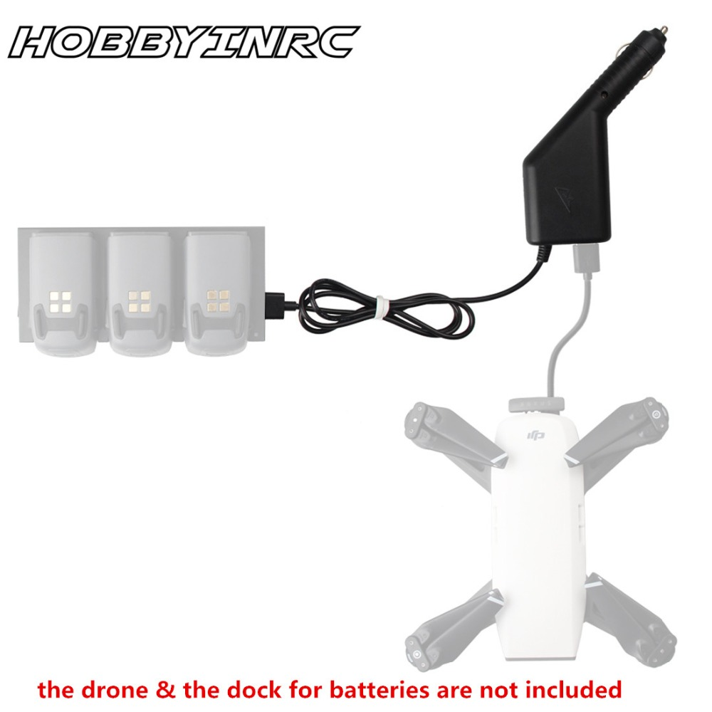 HOBBYINRC Specialized Intelligent Battery Car Charger with USB Port for DJI Spark RC Drone Battery Chargers original dji spark battery charging hub intelligent flight battery charger for dji spark
