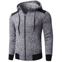 2018 Autumn Men Hoodies Hip hop Hooded Sweatshirt Zipper Casual Fashion Streetwear Men Outerwear Hoodie Workout Tracksuit Hombre