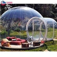 М 4 м диаметр одиночный туннель кемпинг надувная прозрачная палатка портативный Сад бен палатка famliy надувной пузырь палатка Вечерние