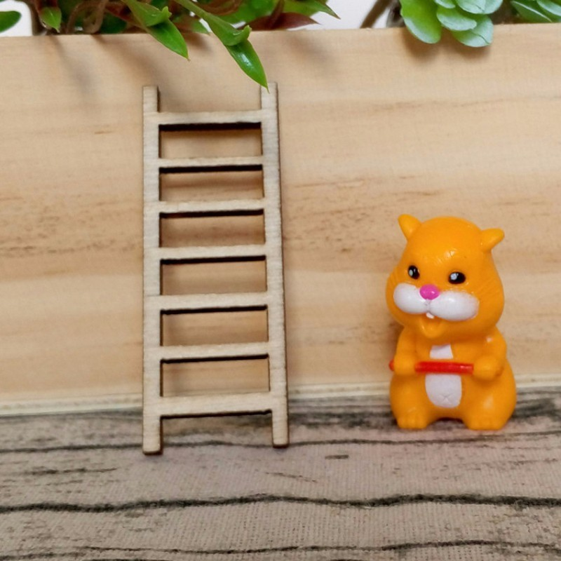 Figurines & Miniatures 6pcs Diy Gift Home Decoration Mini Toy Miniature Wood Stairs Garden Fairy Craft Ornaments Micro Decor Drop Shipping