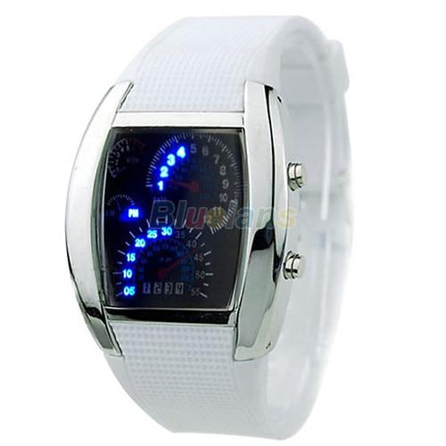 Uhren Clever Heißer Verkauf Rpm Turbo Blue Flash Led Mens Sport Auto Meter Zifferblatt Uhr 8jwp Elegant Und Anmutig