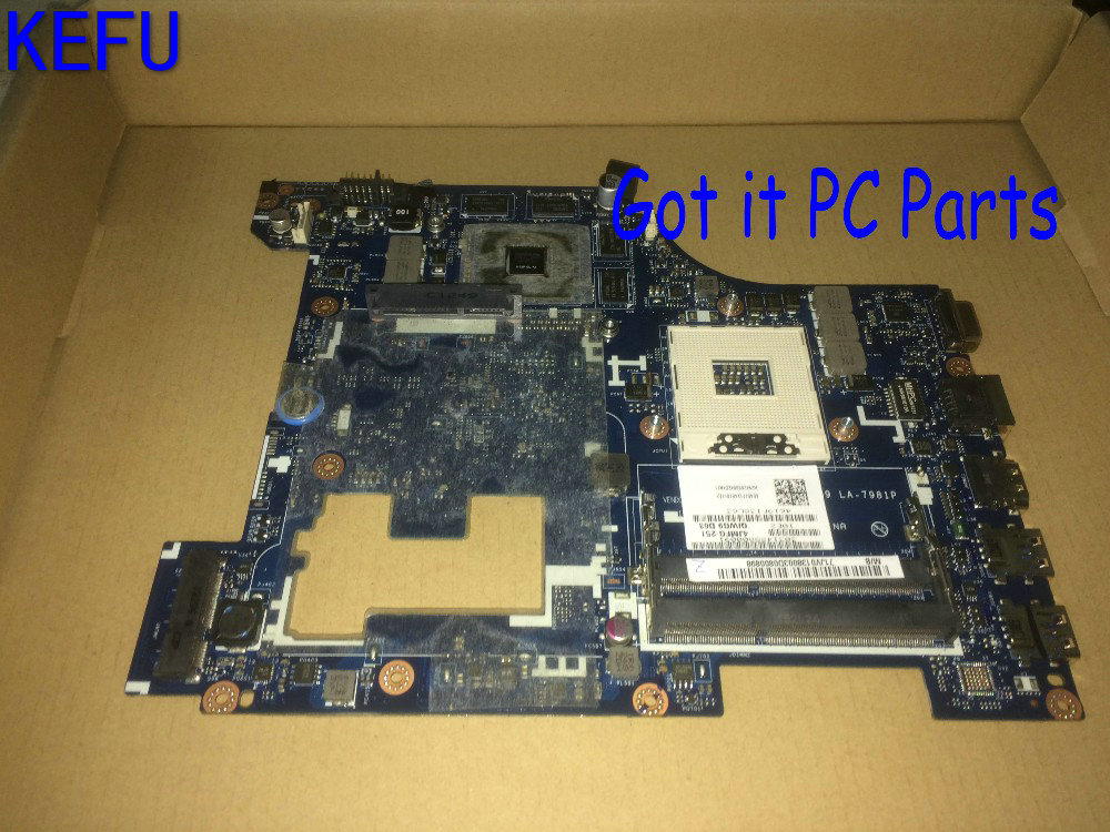 KEFU HOT IN RUSSIA UKRAINE NEW + FREE SHIPPING QIWG5_G6_G9 LA-7981P laptop Motherboard For lenovo G580 NOTEBOOK GT630M 2GB free shipping new la 7982p rev 1 0 laptop motherboard for lenovo g580 notebook pc qiwg55 g6 g9 fru 90001507