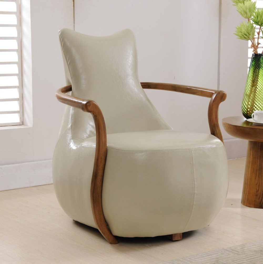 2 pcs chairs for selling modern Sofa Chair wood frame Armchair ...