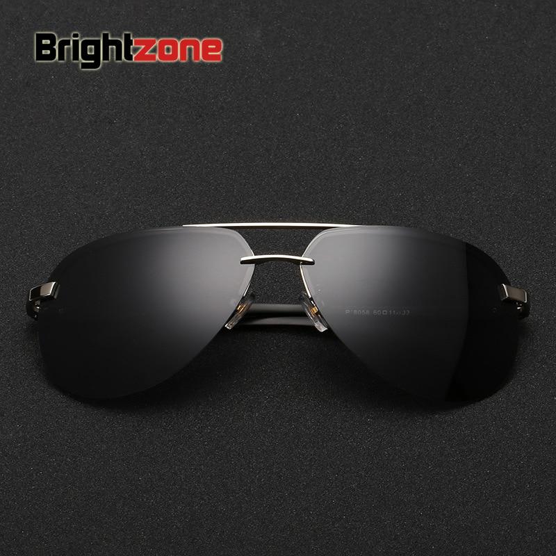 dcd2bdbccc Polarized Sunglasses Man Half Frame Sunglasses Aluminum Magnesium  Sunglasses Glasses Color Film oculos de sol gafas-in Boy s Sunglasses from  Apparel ...