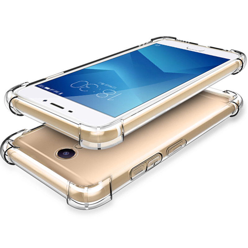 360 Drop Protection For Meizu Pro 6 M5 Note M5 M5S M6 note M5C M3 Note Case Anti-knock Clear soft TPU Cover For pro 6 case glass