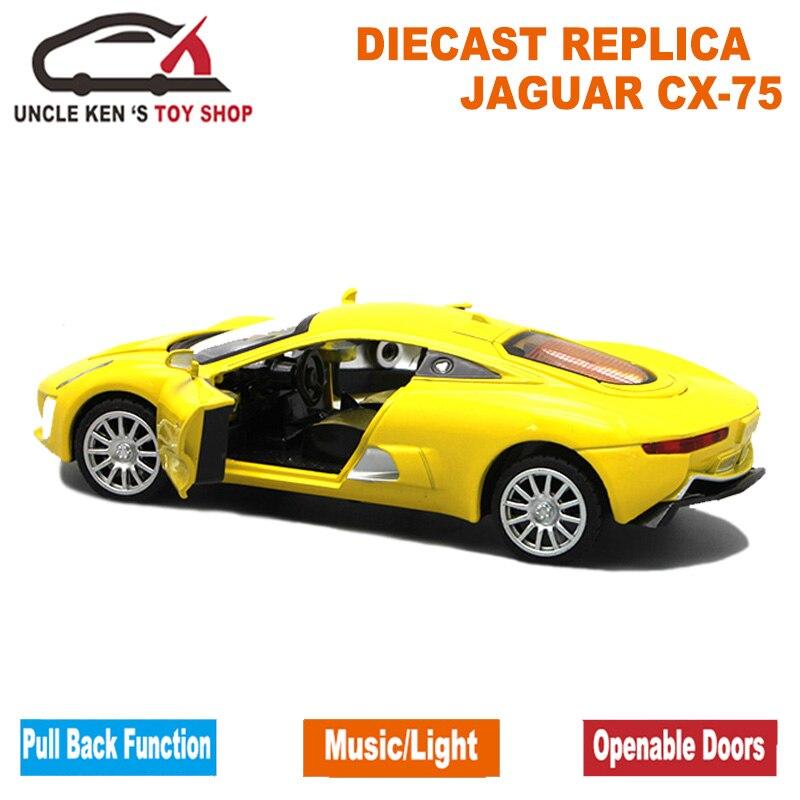 1/32 Μοντέλο Ζυγαριάς Diecast Jaguar CX-75, 15cm - Οχήματα παιχνιδιών - Φωτογραφία 4