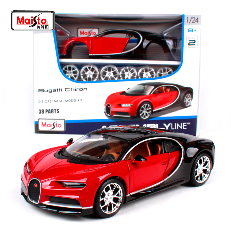 Maisto 1:24 Bugatti Chiron Assembly LINE DIY Diecast Model Car Toy New In Box Free Shipping NEW ARRIVAL 39514