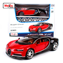 Maisto 1:24 Bugatti Chiron Assembly LINE DIY Diecast Model Car Toy New In Box Free Shipping 39514