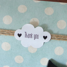 102pcs Cloud Shape White Seal Sticker Thank You Paper Labels Gift Bag Candy Box Paper Sticker for Wedding Party Favor DIY Decor