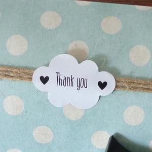 Image 1 - Pegatina de foca blanca en forma de nube, 102 Uds., etiquetas de papel de agradecimiento, bolsa de regalo para caramelos, caja de papel, pegatina para boda, fiesta, Favor, decoración DIY