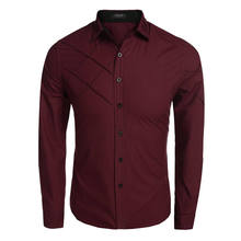 Men Shirts Luxury Dress Suit Stylish Shirts Splice Cotton Shirt Long Sleeve Tops Premium Men Clothings Plus Size 1092