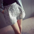 Top Design Women Shorts Elegant Vintage Printed Shorts Casual Slim Wide Leg Shorts Summer Fashion Girls Shorts BL1-17