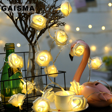 10M 100 Bulbs Rose Christmas Garland LED Lights String Bedroom Fairy Lights Decoration For Holiday Party Wedding Home Lighting