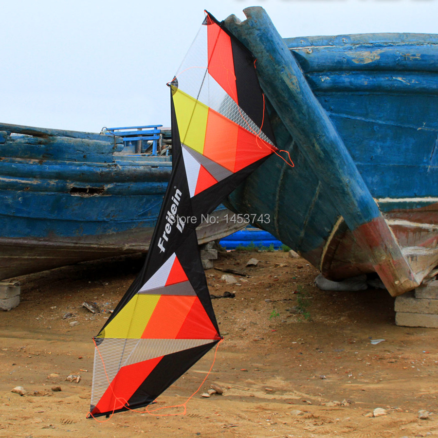 В виде длинного прямоугольника трюк кайт 7.5ft желтый профессиональный спортивный трюк воздушный змей сильный ветер Летающий для взрослых - 4