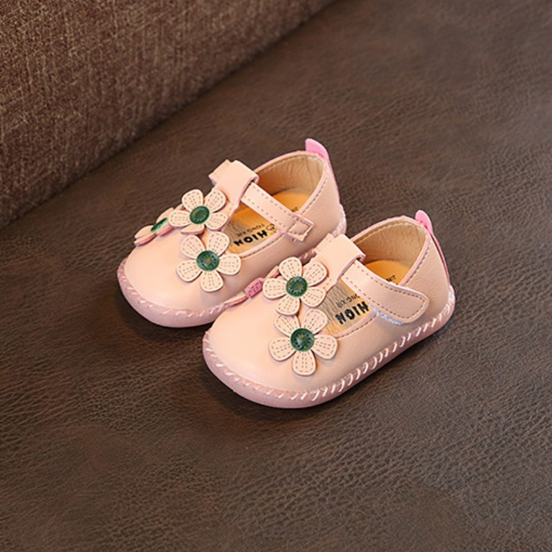 Baby Flower Shoes Spring Autumn Girls Princess Shoes Soft PU Leather Baby Girl Shoes For Party High Quality