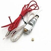 Funssor 更新六角 AO すべて金属 Hotend キット Diy RepRap Lulzbot 3 D プリンタ部 12/24 V 1.75/3.00 ミリメートル -