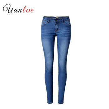 Fashion Woman Highstreet Jeans Denim Skinny Pants Blue Jeans Stretch Slim Pencil Trousers Female Bleached Pleated Pants 2019 womens jeans woman fashion baggy denim pants dungarees ladies slim fit jeans female overall jumpsuits pants casual long trousers