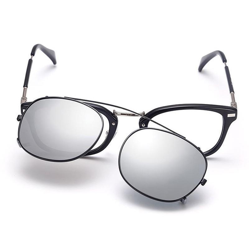 New Fashion Polarized Myopia Clip On Sunglasses Unisex Men Women nearsighted Clips Lens Stainless Steel Frame Eyeglasses S,L L3