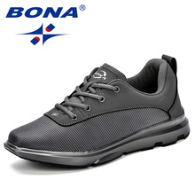 BONA New  Fashion Style Men Shoes Lightweight Oxford Fabric Breathable Casual Trendy Outdoor Sneakers Free Shipping