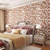Beibehang European 3D Stereo Imitation Deerskin Nonwovens Wallpaper Bedroom Living Room TV Wall KTV Wallpaper