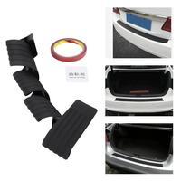 Car Rubber Rear Bumper Sill Protector Scratch Guard Pad Trim Cover 3 Colors Black Red Blue