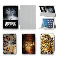 Idea personalizada UV Impreso Tapa Protectora Shell/Piel Para el ipad de Apple de Aire/2 Cubierta de la Caja Del Lobo Animal Prints leopardo León