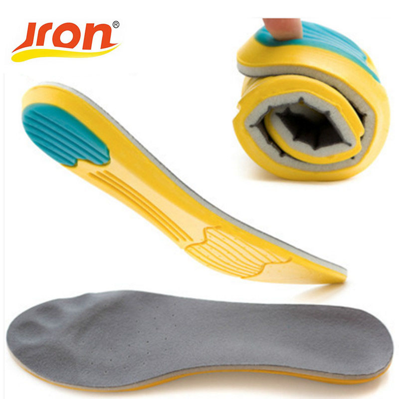 Jron US Market Memory Foam Sport Insoles Sweat Absorption Pads Running Sport Shoe Inserts Breathable Insoles Foot Care Men Women thinkthendo all size anti arthritis memory foam sport shoe insoles unisex for men and women