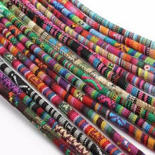 LOULEUR 5yards/lot 16colors 6mm Colorful Fabric Cotton Cords Rope String Jewelry for Necklaces Bracelets Making