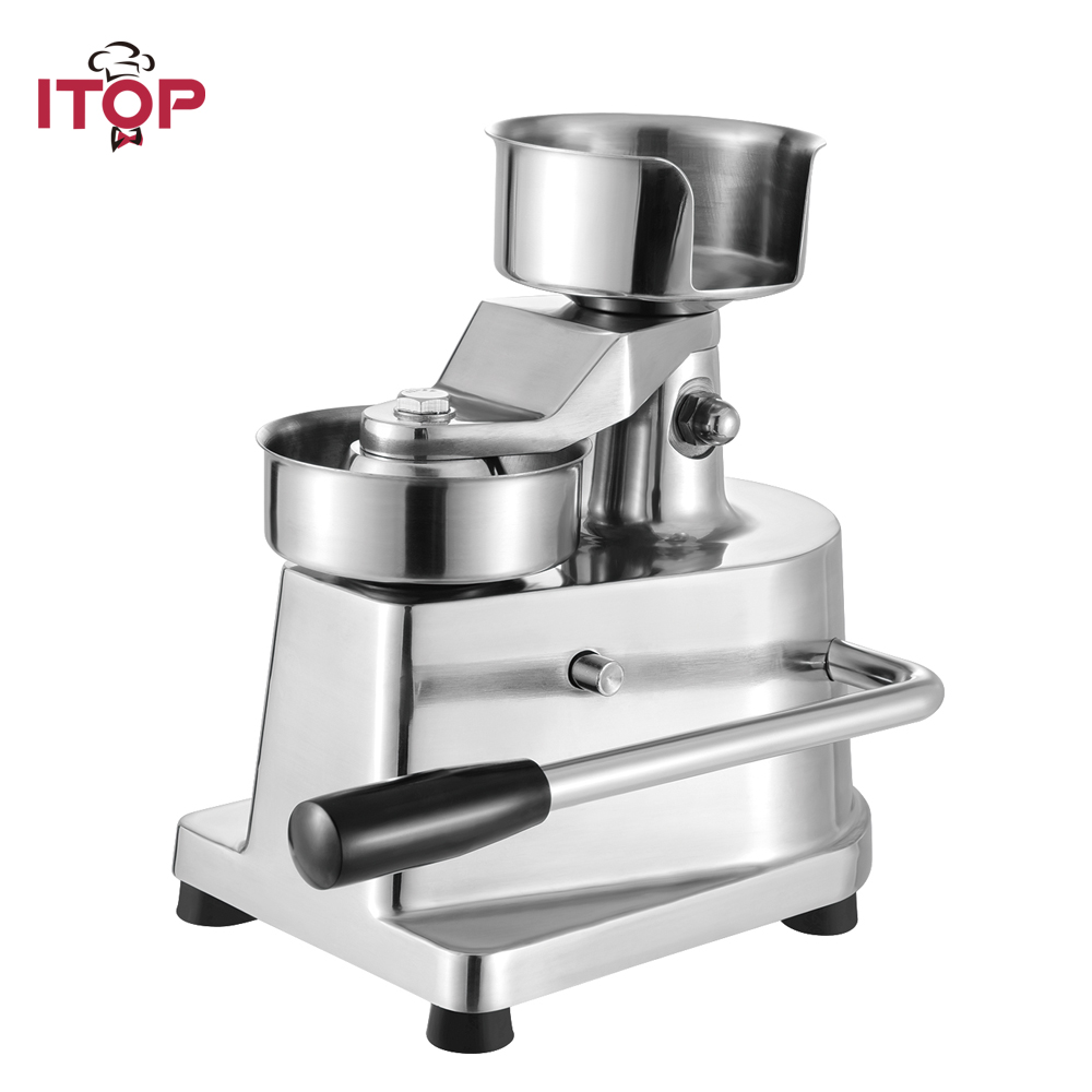 ITOP Munual Hambergur Press Forming Machine Patty Maker 100/130mm Round Meat Press Food Processors With greaseproof paper