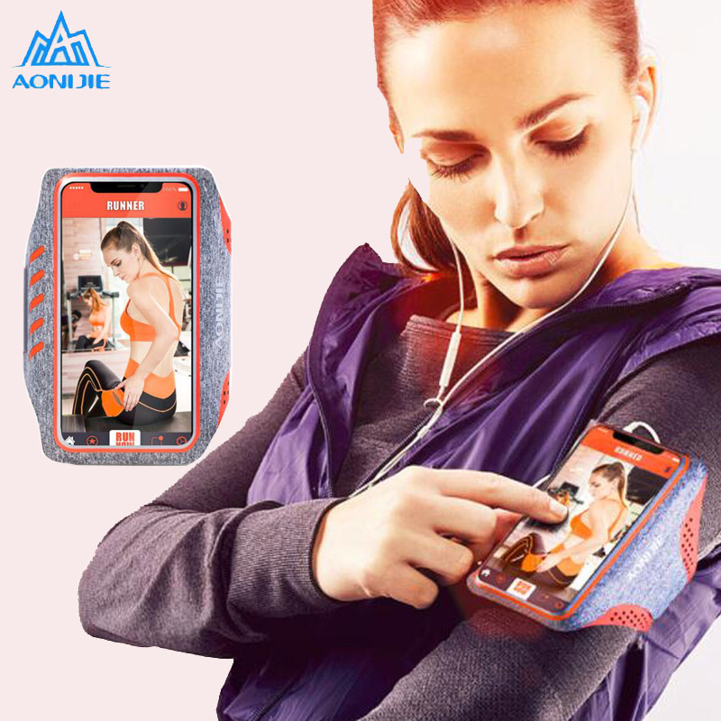 1pc Men Women Running Bags 5.0 6.0 Touch Screen Cell Phone Arms Bag Arm Band Package Sports Equipment Bag Accessories