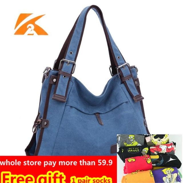 55c7c52ed734 K2 Casual Beach Woman Canvas Bags Women Shoulder Bag Female HandBags  Crossbody Bag For Women Blue Tote Bags Bolsa Feminina