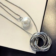 women pendant necklace woman sweater chain ladies long necklace fashion jewelry chain 2017 new necklace female DG1145