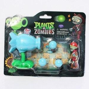 Image 3 - Plantas VS. Figuras de zombis, Peashooter, bomba de cereza de girasol, Snow Pea Chomper, jalapeño, Cactus, Cob Cannon, avión, modelo PVZ, Juguetes