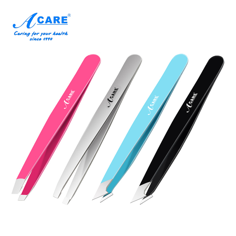 Eye Brow Tweezers Salon Clip Hair Slanted Flat Tip For Hair Removal Facial Beauty Eyebrow Stainless Steel Women Beauty Tools